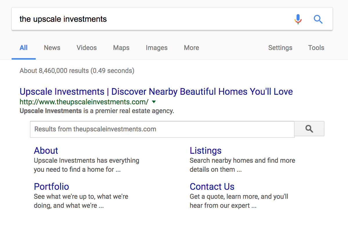 real estate digital services executed in search engines